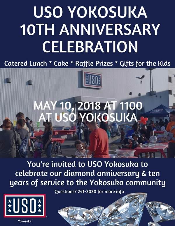 USO Yokosuka 10 Yr Anniversary Celebration • USO Japan